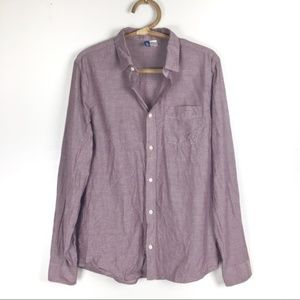 H&M Divided men's casual button down shirt size M